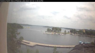 Vue webcam de jour à partir de Sudbury: Ramsey Lake from Science North