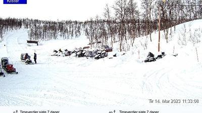 Vue webcam de jour à partir de Jakobsbakken: Sulitjelma − Skihytta