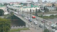 Omsk: Вебкамера расположена в Омске возле Юбилейного моста, по улице Ленина - Day time