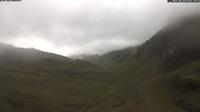 Dernière vue de jour à partir de Gaschurn: Heilbronner Hütte (2320m) − Blick Richtung Versailspitze und Silvretta