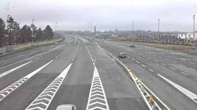 Vista actual o última desde Lučko: A1/E65/E71, naplata/toll gate/Mautstelle, view in the direction of centrum, A3
