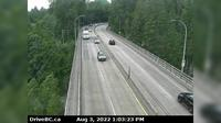 District of North Vancouver > West: , Hwy  (Upper Levels Highway) at Capilano Rd. looking west - Overdag