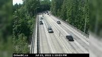 District of North Vancouver > West: , Hwy  (Upper Levels Highway) at Capilano Rd. looking west - Day time