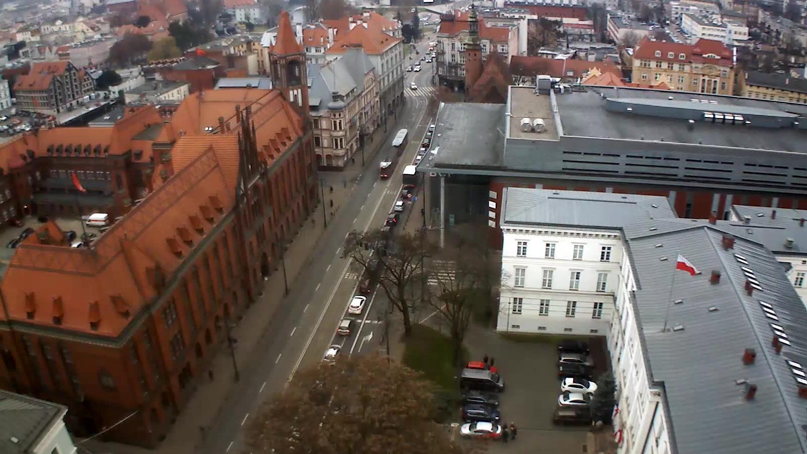 Webcam Bydgoszcz: Poczta ul.Jagiellońska (kamera)