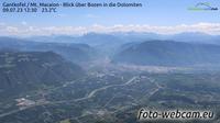 Eppan an der Weinstrasse - Appiano sulla Strada del Vino: Gantkofel - Mt. Macaion - Blick �ber Bozen in die Dolomiten - Overdag