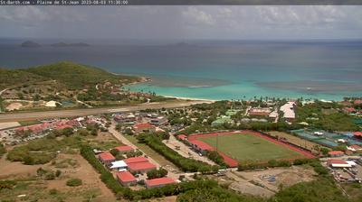 Vue webcam de jour à partir de Saint Jean: Plaine de − Saint Barth