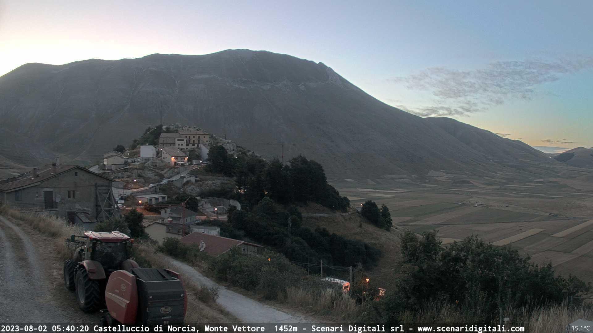 Webcam Castelluccio: Monte Vettore