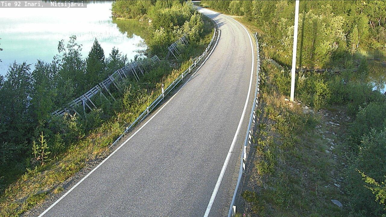 Webcam Inari: Tie 92 − Nitsijärvi − Kaamaseen
