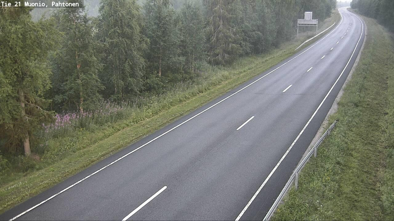Webcam Muonio: Tie 21 − Pahtonen − Tornio
