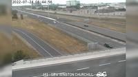 Oakville: QEW near Winston Churchill Boulevard - Day time
