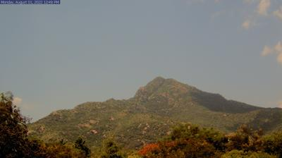 Daylight webcam view from Tiruvannamalai: Arunachala