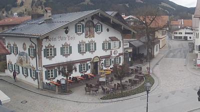 Daylight webcam view from Oberammergau: Hotel Alte Post GmbH