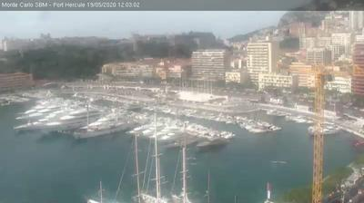 Current or last view from Monaco: Port Hercule − LiveHD