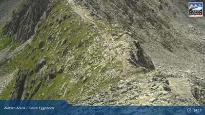 Fiesch: Aletsch Arena - Bergstation Eggishorn, Piste Eggishorn