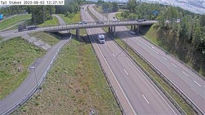 Tageslicht webcam ansicht von Staket: Tpl Kameran är placerad på E Enköpingsvägen i höjd med trafikplats och är riktad m