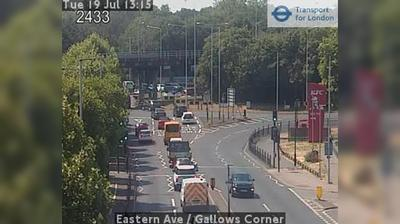 Daylight webcam view from Bexley: Eastern Ave − Gallows Corner