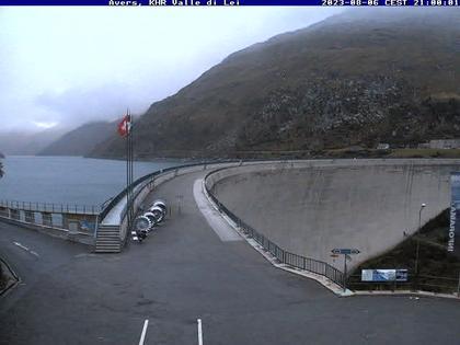 Ferrera › Süd-West: Diga della Valle di Lei - Lago di Lei