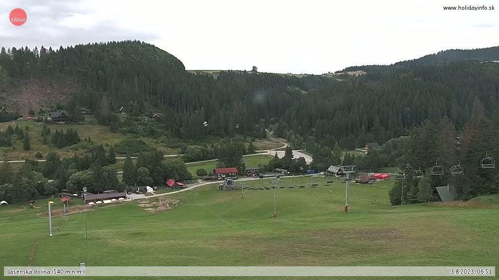 Webcam Horné Jaseno: Jasenská dolina