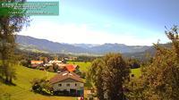 Gemeinde Lingenau: Ein sch�ner Panoramablick von A- Langenegg zur Mittagsspitze - Overdag