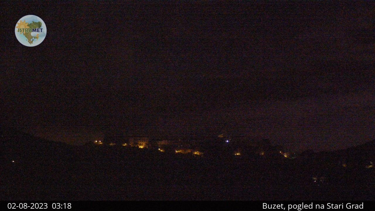 Webcam Antonci: Oprtalj, Ravnica − Pogled na Motovun