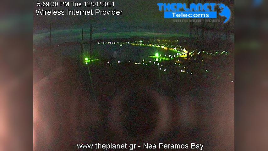 Webcam Nea Peramos: Kavala − Bay − Παραλία Νέας Περάμου