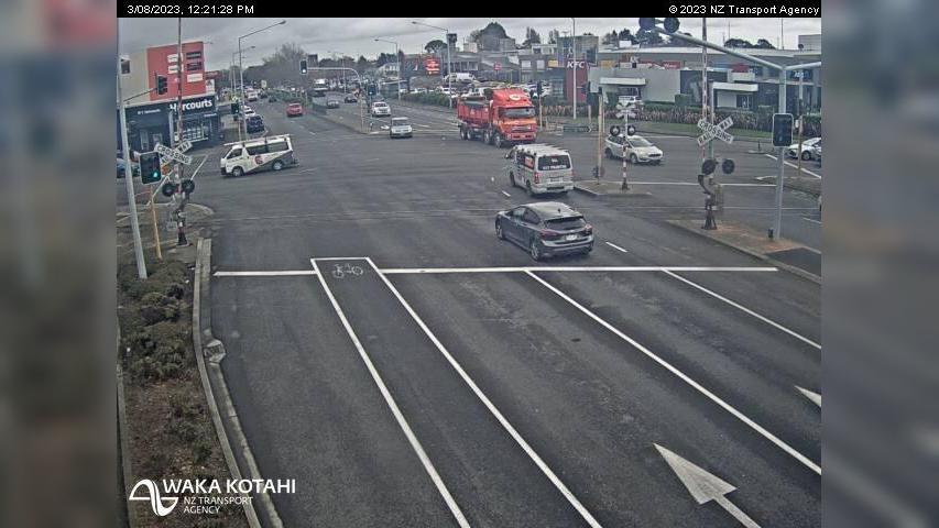 Webkamera Hornby › West: SH1 − Christchurch