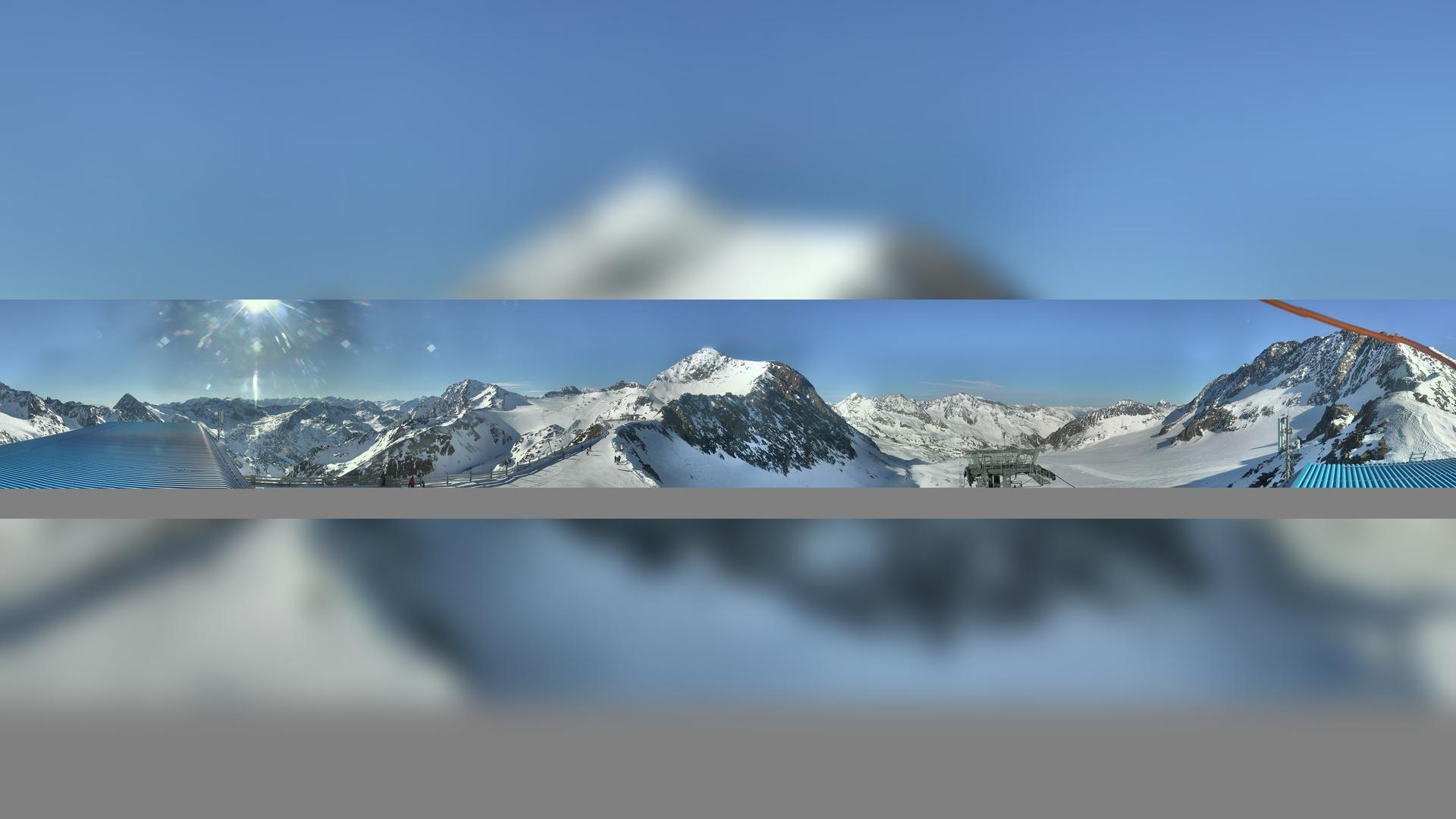 Webkamera Mutterbergalm: Fernau Stubaier Gletscher