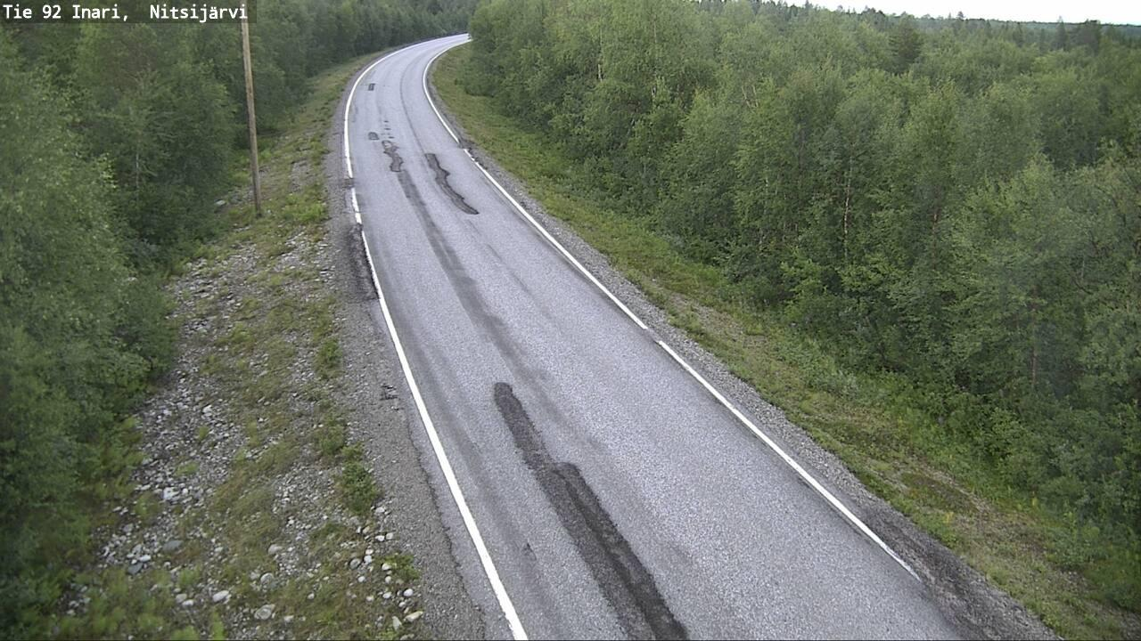 Webcam Inari: Tie 92 − Nitsijärvi − Sevettijärvelle