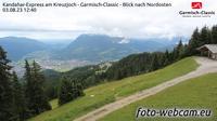 Hammersbach: Kandahar-Express am Kreuzjoch - Garmisch-Classic - Blick nach Nordosten - Day time