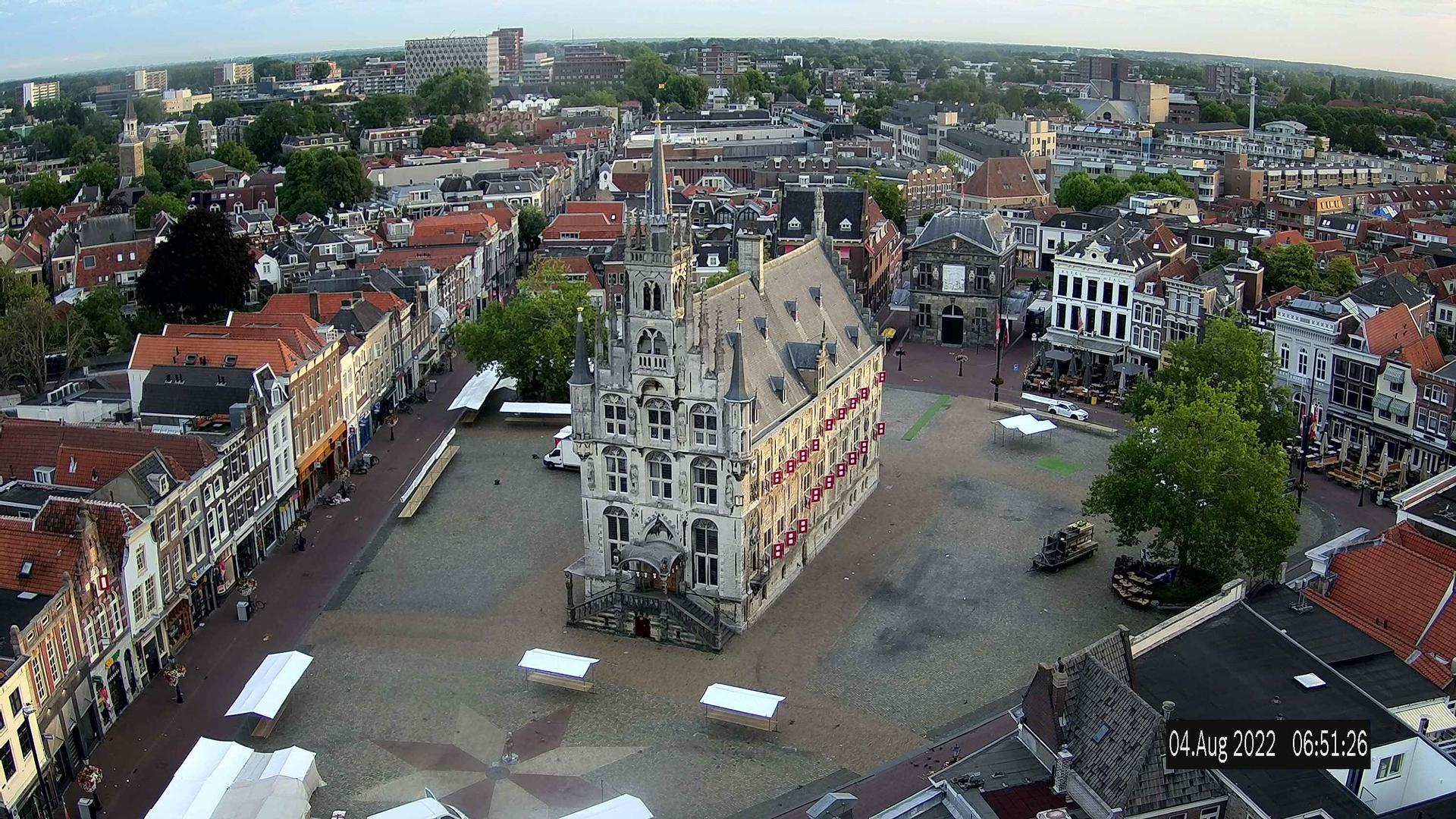 Webcam Gouda: Town Hall cam