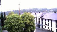Klingenbrunn: Webcam Hochriegel mit Blick zur Hochriegel- Residence und zum Lusen im Hintergrund - Day time