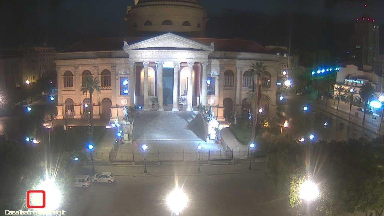 Webcam Teatro Massimo › South: Massimo Theater − Piazza V