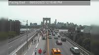 New York: Brooklyn Bridge - Ped Walkway - Overdag