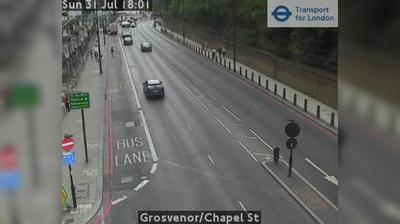 Current or last view from Pimlico: Grosvenor/Chapel St