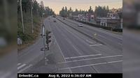 Mission > East: , Hwy  (Lougheed Hwy) at Hayward St in - looking south-east along Hwy - Actual