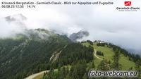 Hammersbach: Kreuzeck Bergstation - Garmisch-Classic - Blick zur Alpspitze und Zugspitze - Overdag