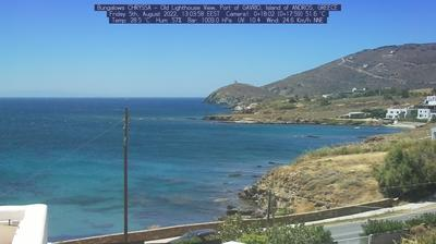 Daylight webcam view from Gavrio: Andros