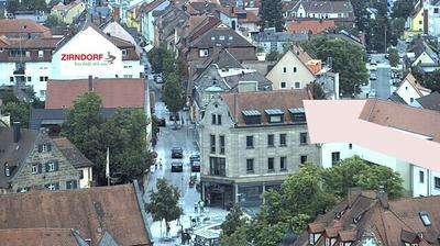 Zirndorf: Blick ueber - vom St. Rochus Turm aus