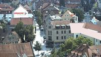 Zirndorf: Blick ueber - vom St. Rochus Turm aus - Tageszeit