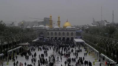 Vue webcam de jour à partir de Karbala › West: Imam Hussien Museum