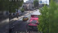 London: A Clapham High St/Aristotle Rd - Overdag