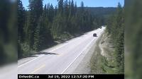 Trail > West: Hwy , about  km east of Paulson Summit, looking west - Day time