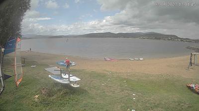 Daylight webcam view from Bližná: Lipno Windsurfing