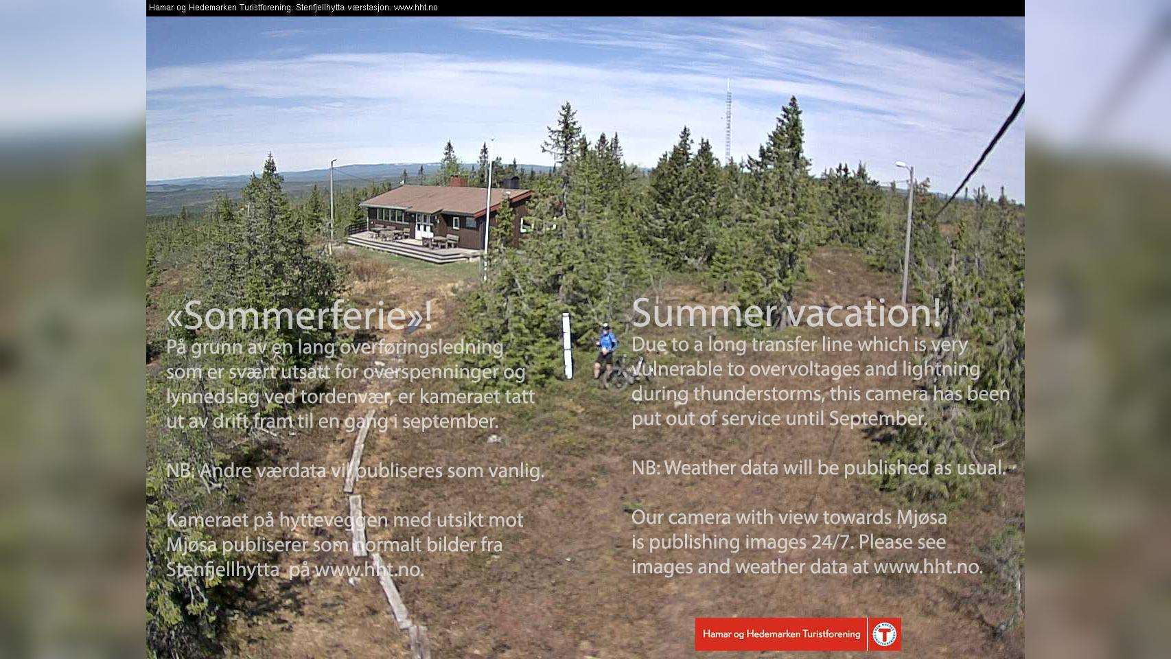 Webcam Stenfjellet › North-West: Stenfjellhytta