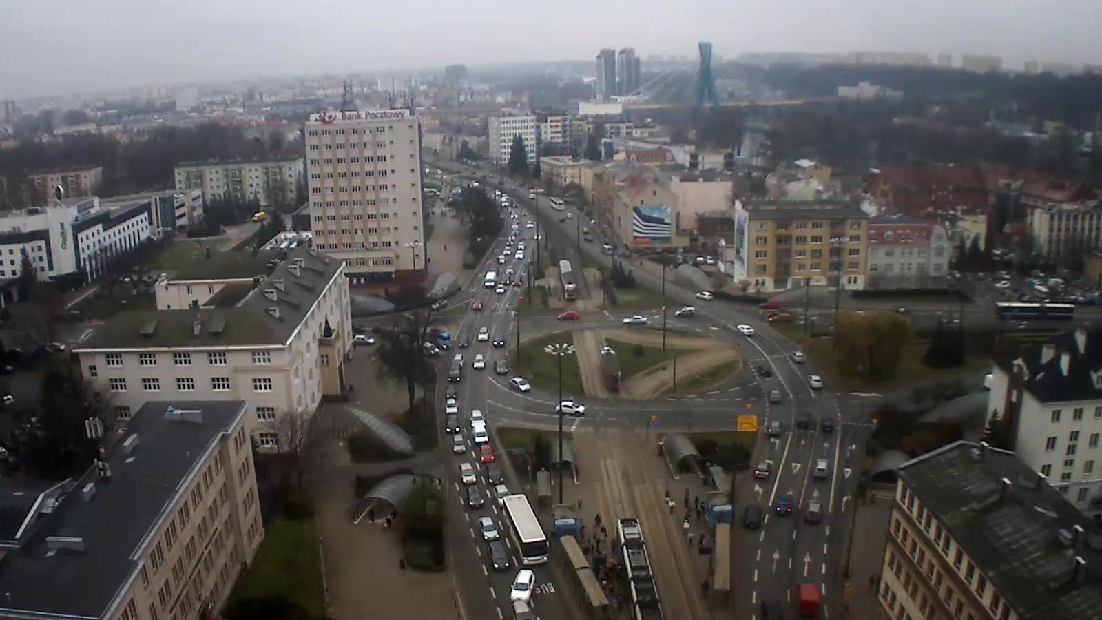 Webcam Bydgoszcz: panorama miasta widok wschodni (kamera)