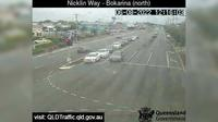 Caloundra: Nicklin Way - Bokarina, Main Drive intersection (looking North) - El día