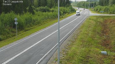 Vue webcam de jour à partir de Leppävirta: Tie − Soisalo − Varkauteen