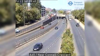 Current or last view from Ealing: A40 − Near Connell Crescent