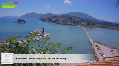 Corfu Dagsljus Webbkamerabild