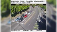 Durham: Washington County - Cornell Rd at Bethany Blvd - Actuales